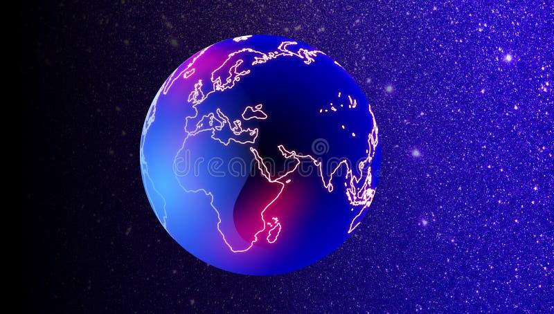 Tecnolog?a de red del mundo Comunicaci?n de la tecnolog?a stock de ilustración