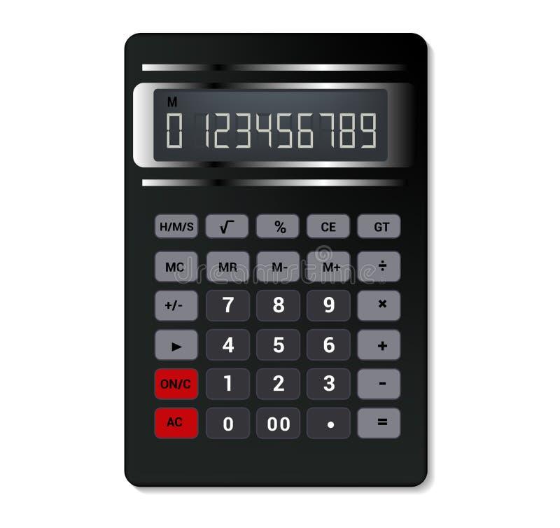 Tecnolog?a del c?lculo de la contabilidad empresarial del vector de la calculadora que calcula el sistema del ejemplo de las fina stock de ilustración
