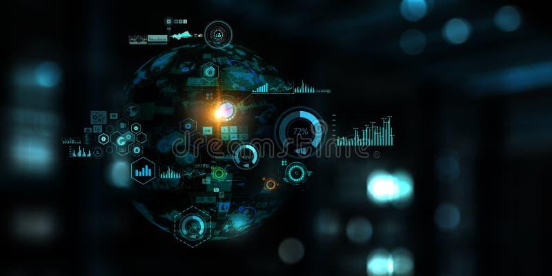 Tecnolog?a futura, tablero de pantalla digital foto de archivo