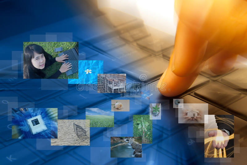 Tecnologia abstrata. imagem de stock royalty free