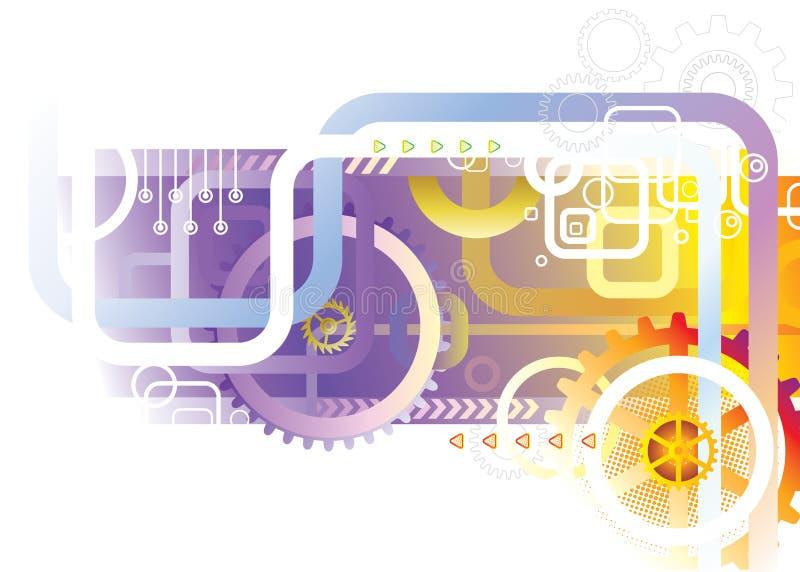 Tecnologia abstrata ilustração stock