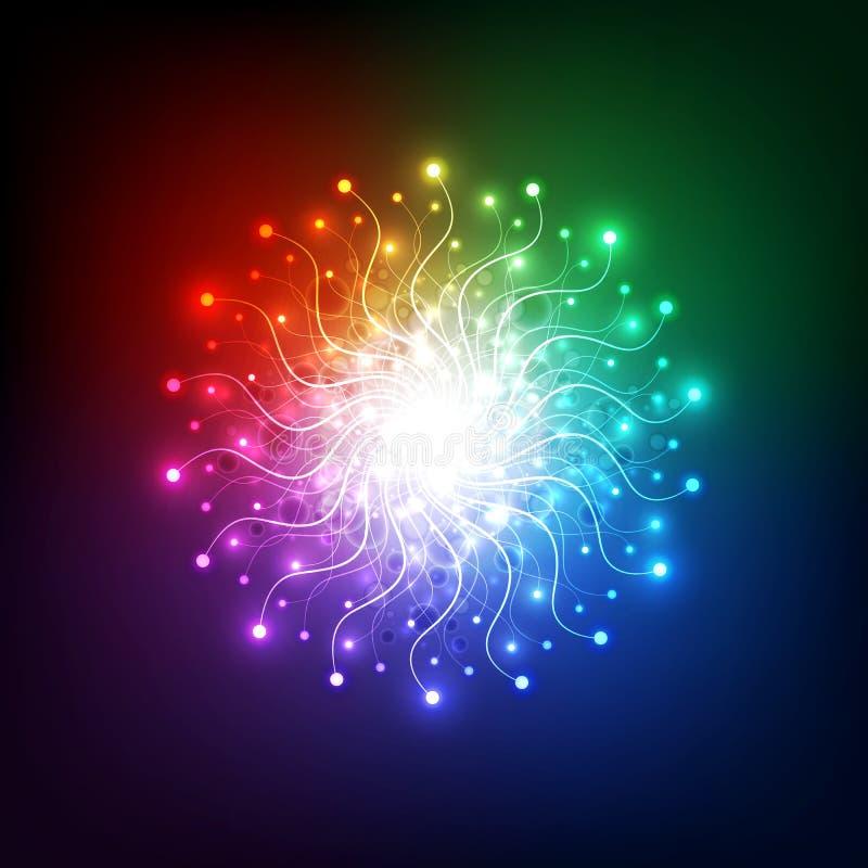 Tecnologia abstrata da rede da luz da aura, fundo do vetor ilustração do vetor