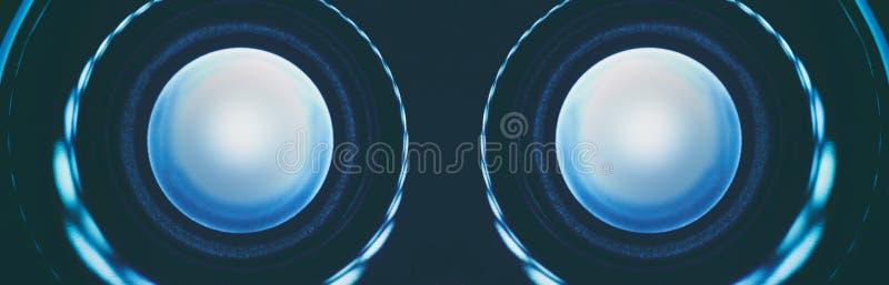 A tecnologia abstrata do robô eyes o close up ilustração do vetor
