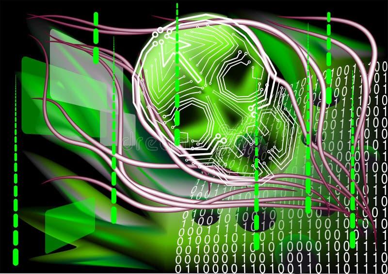 Tecnologia assustador ilustração do vetor