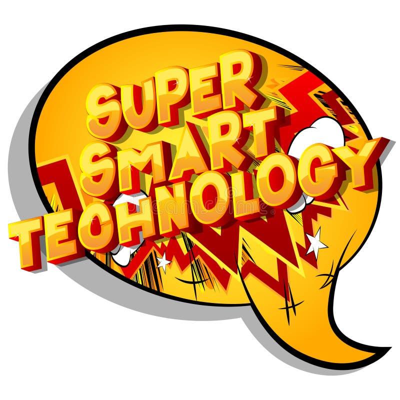 Tecnologia astuta eccellente - parole di stile del libro di fumetti illustrazione di stock