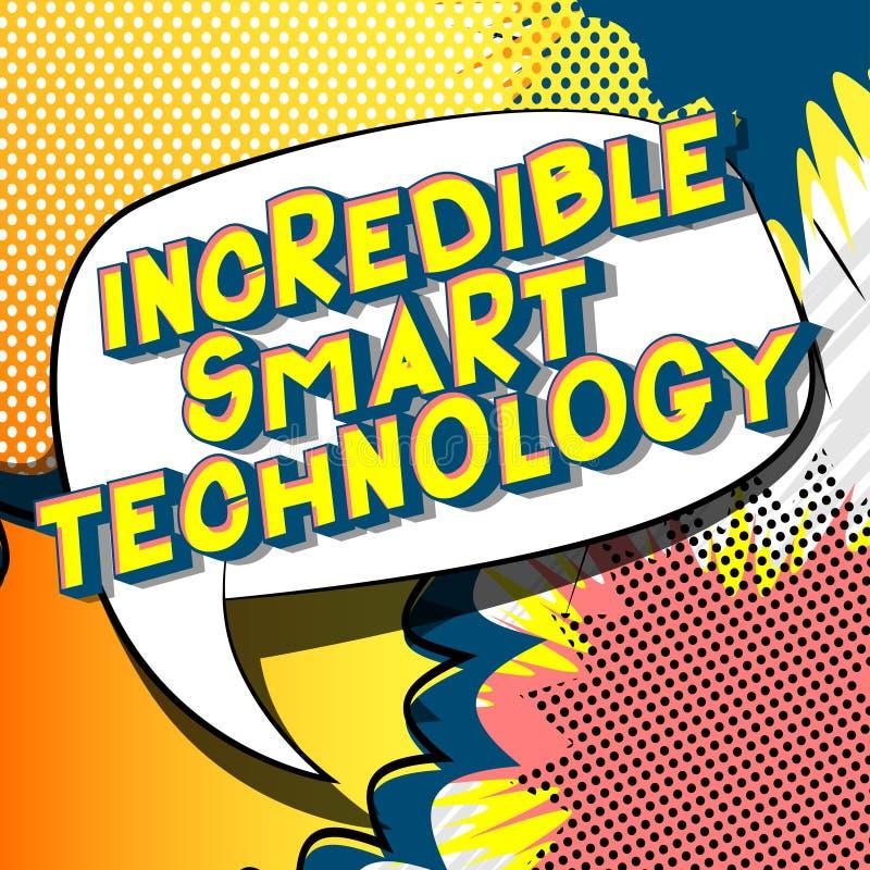 Tecnologia astuta incredibile - parole di stile del libro di fumetti illustrazione vettoriale