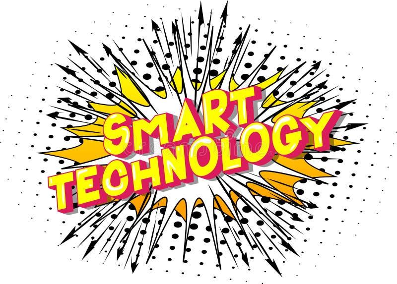 Tecnologia astuta - parole di stile del libro di fumetti illustrazione vettoriale