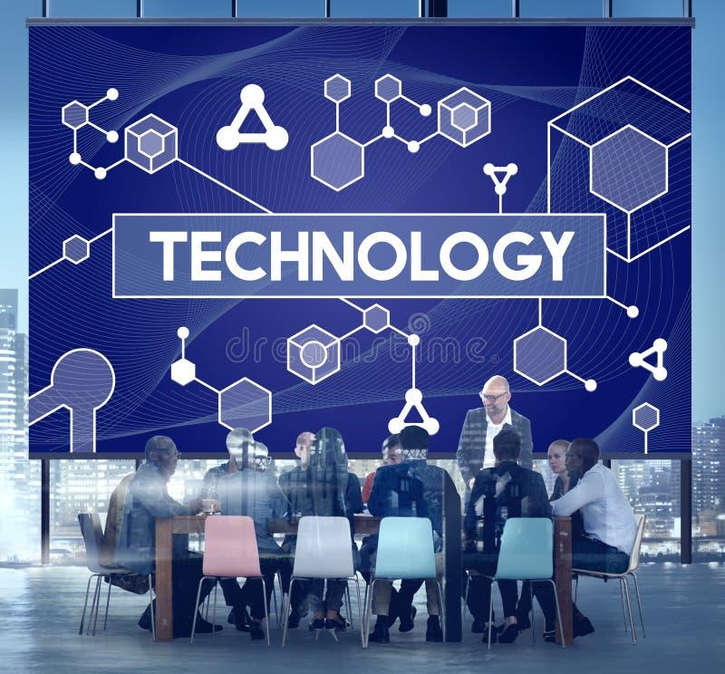 Tecnologia Atom Dna Concept da célula estaminal da ciência imagem de stock