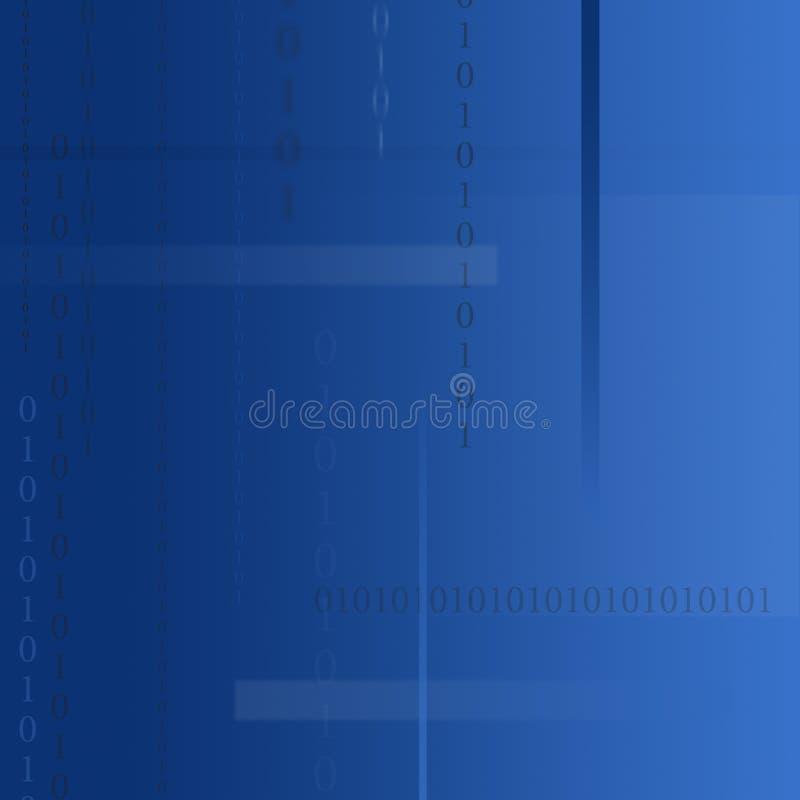 Tecnologia azul ilustração stock