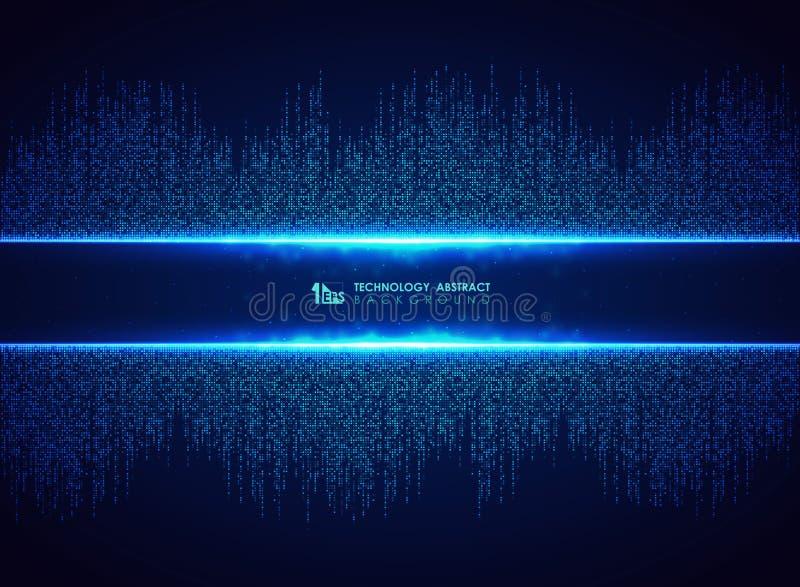 Tecnologia azul abstrata do fundo quadrado do teste padr?o da conex?o Voc? pode usar-se para o projeto gr?fico futurista, ol?! te ilustração royalty free
