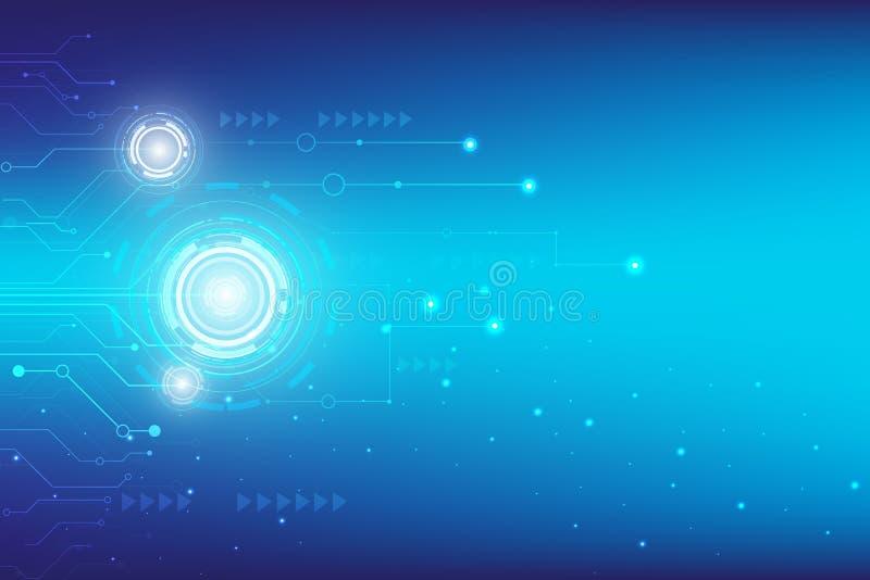 Tecnologia azul da alta tecnologia de Digitas com cremalheira ilustração stock