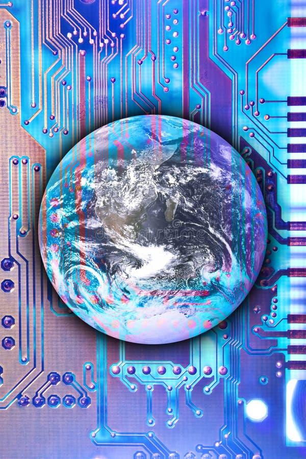 Tecnologia che raggiunge il mondo illustrazione vettoriale