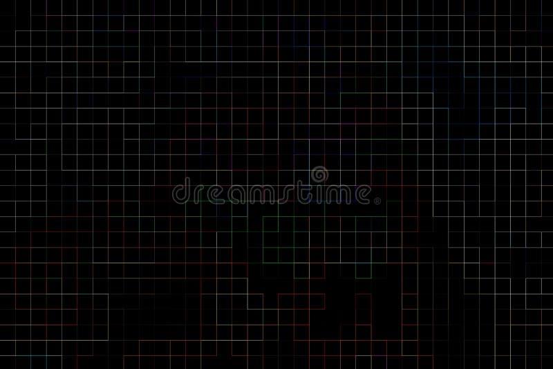 A tecnologia colorida alinha o fundo abstrato ilustração do vetor