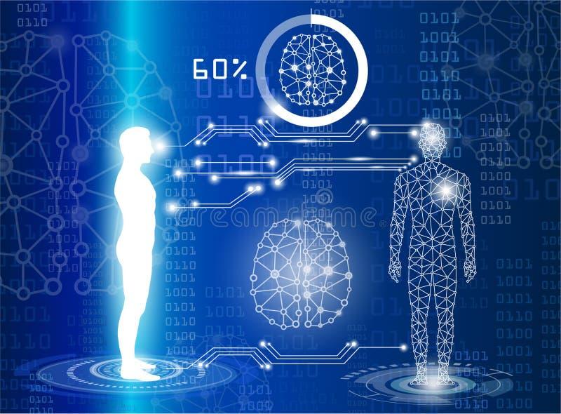 Tecnologia con scienza in futuro royalty illustrazione gratis