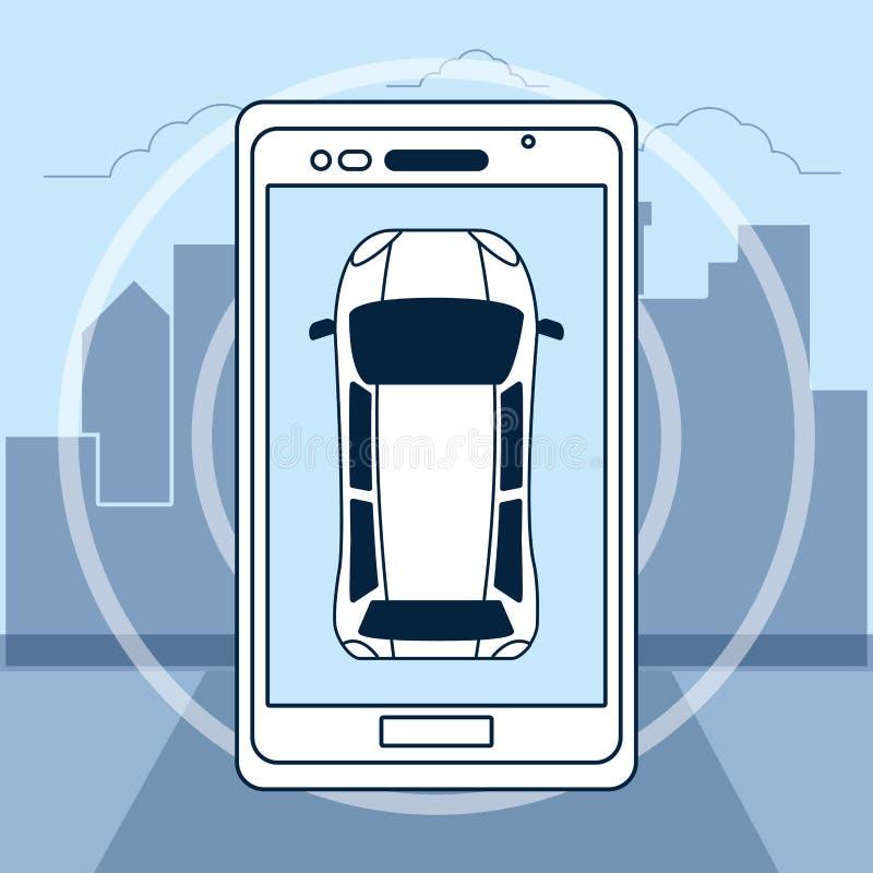 Tecnologia d'inseguimento di GPS illustrazione di stock