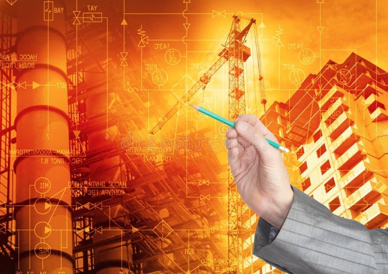 Tecnologia da engenharia industrial foto de stock