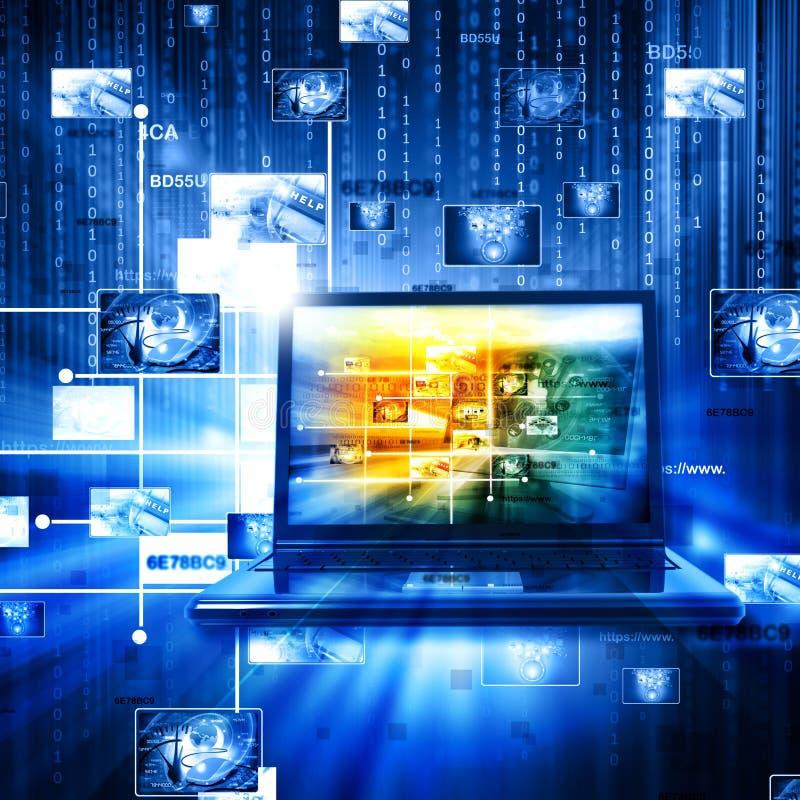 Tecnologia da gestão de dados ilustração royalty free