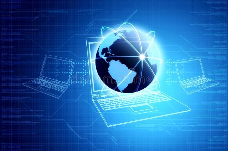 Tecnologia da informação & conceito da coligação ilustração stock