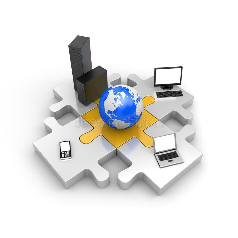 Tecnologia da informação do mundo ilustração do vetor