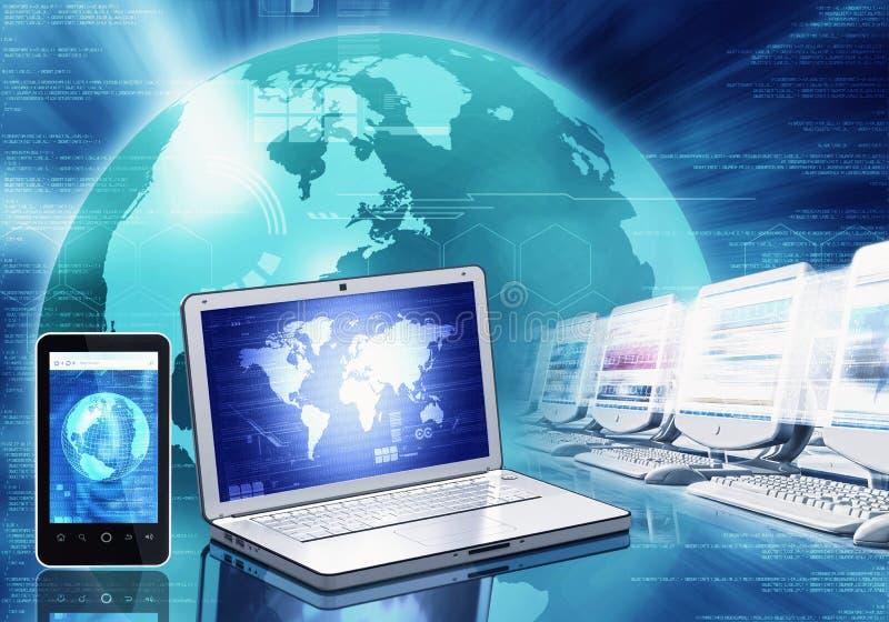 Tecnologia da informação e dispositivo ilustração stock