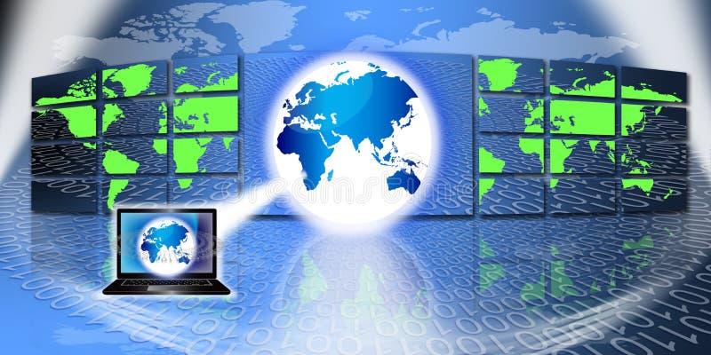 Tecnologia da informação global ilustração stock