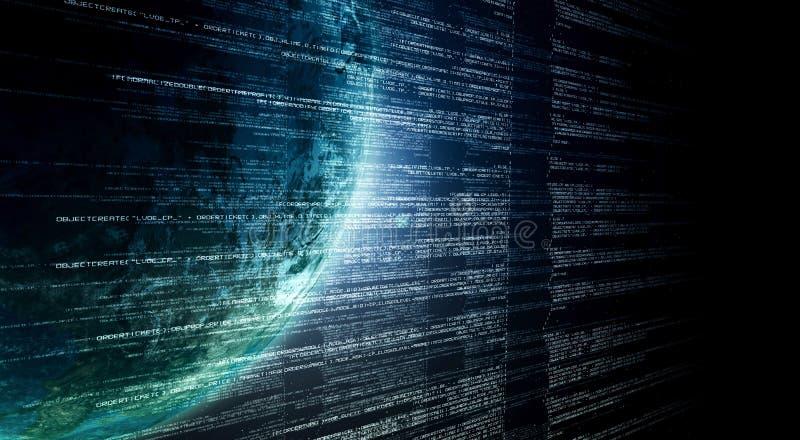 Tecnologia da informações na internet ilustração stock