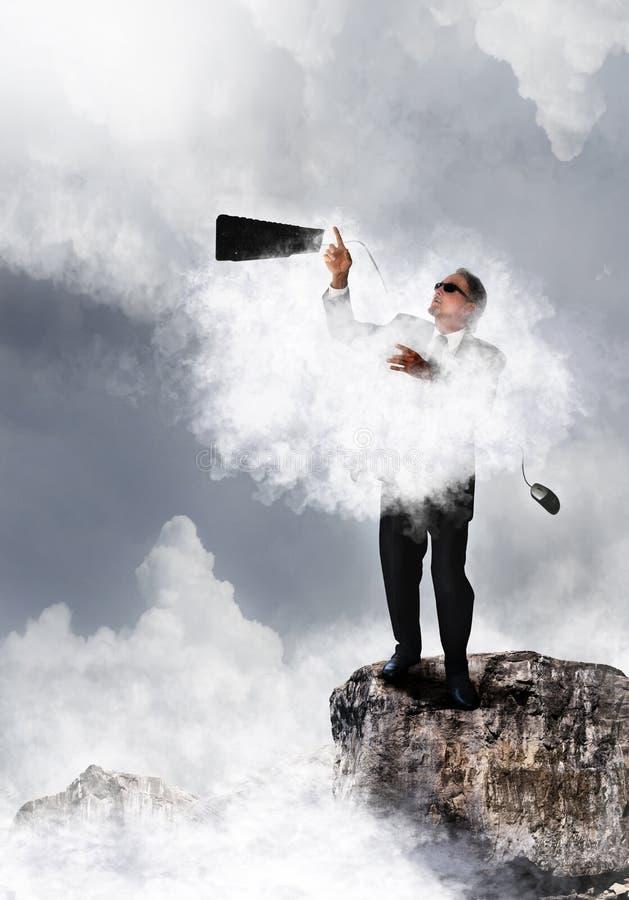 Tecnologia da nuvem fotografia de stock
