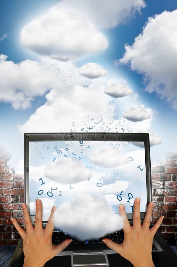 Tecnologia da nuvem imagens de stock