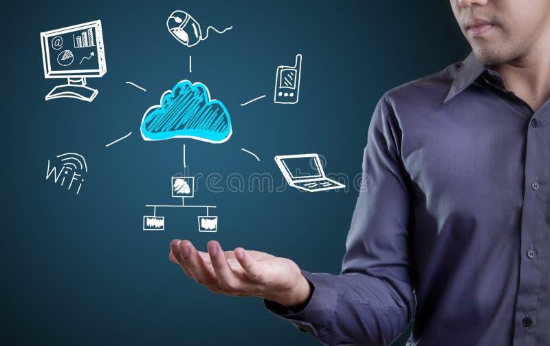 Tecnologia da nuvem fotos de stock