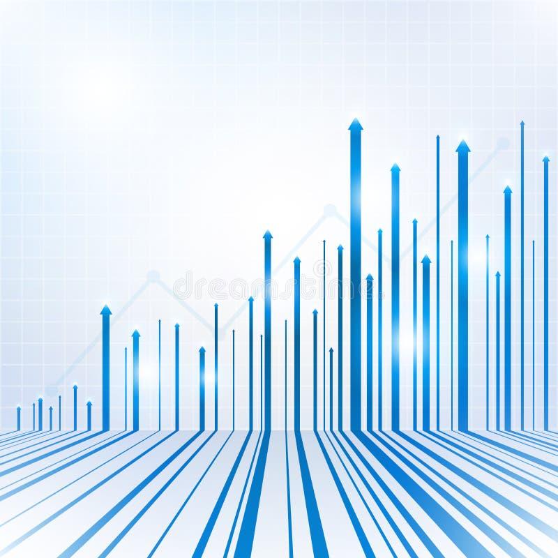 Tecnologia da seta e fundo abstratos geométricos azuis da ciência ilustração stock