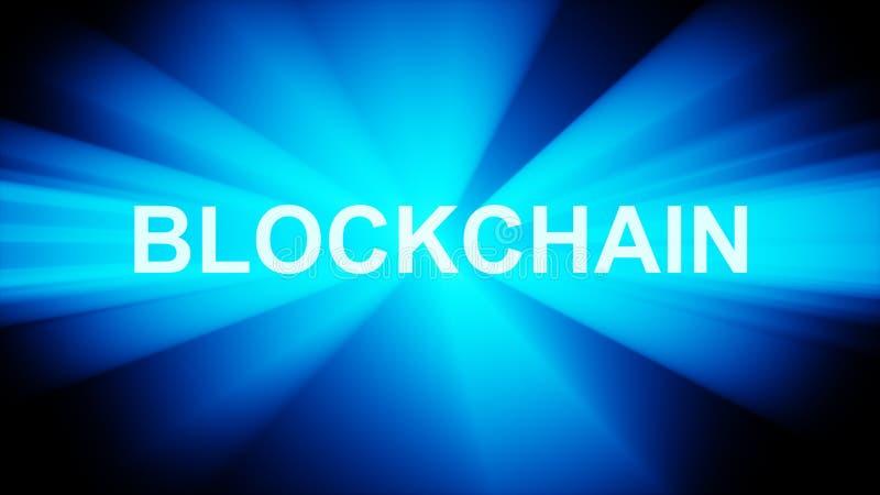 Tecnologia de Blockchain ilustração do vetor