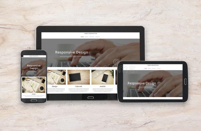 Tecnologia de design responsiva foto de stock royalty free