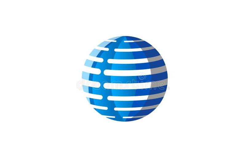 Tecnologia de Digitas azul criativa Logo Design Symbol Vetora Illustration da esfera ilustração royalty free