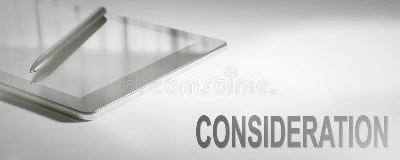 Tecnologia de Digitas do conceito do negócio da CONSIDERAÇÃO foto de stock