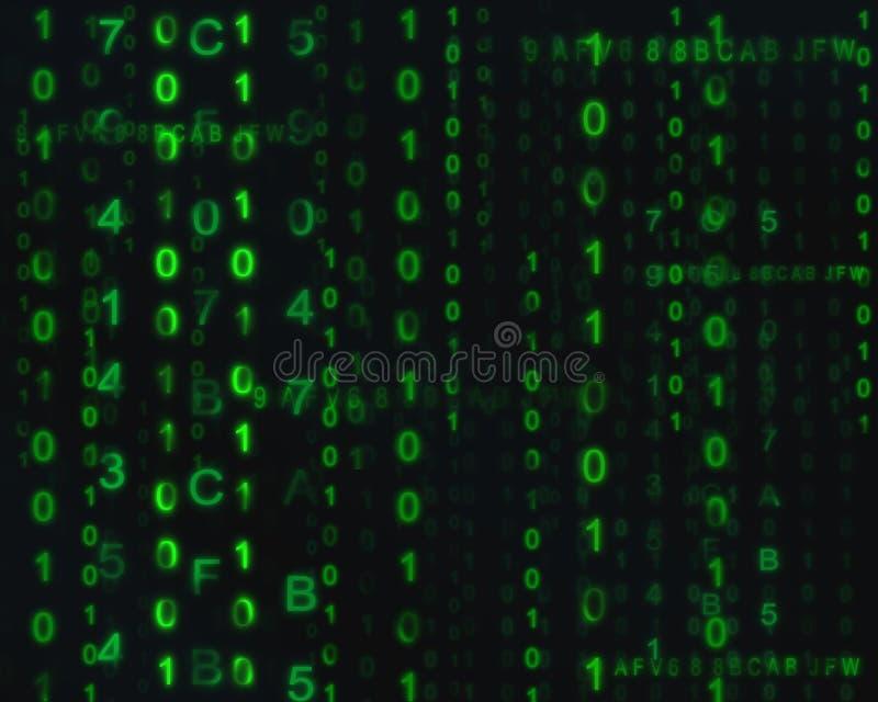 Tecnologia de Digitas e fundo abstrato do código binário imagens de stock