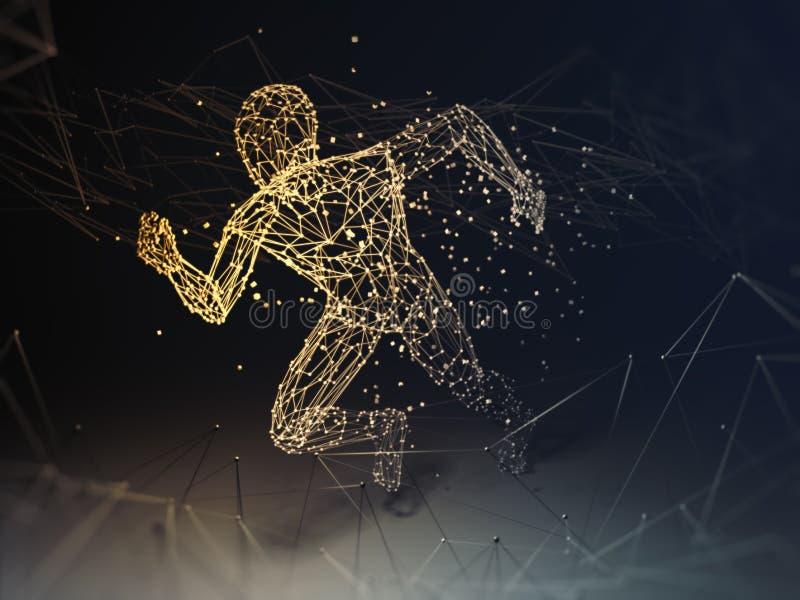 Tecnologia de inteligência artificial ilustração do vetor