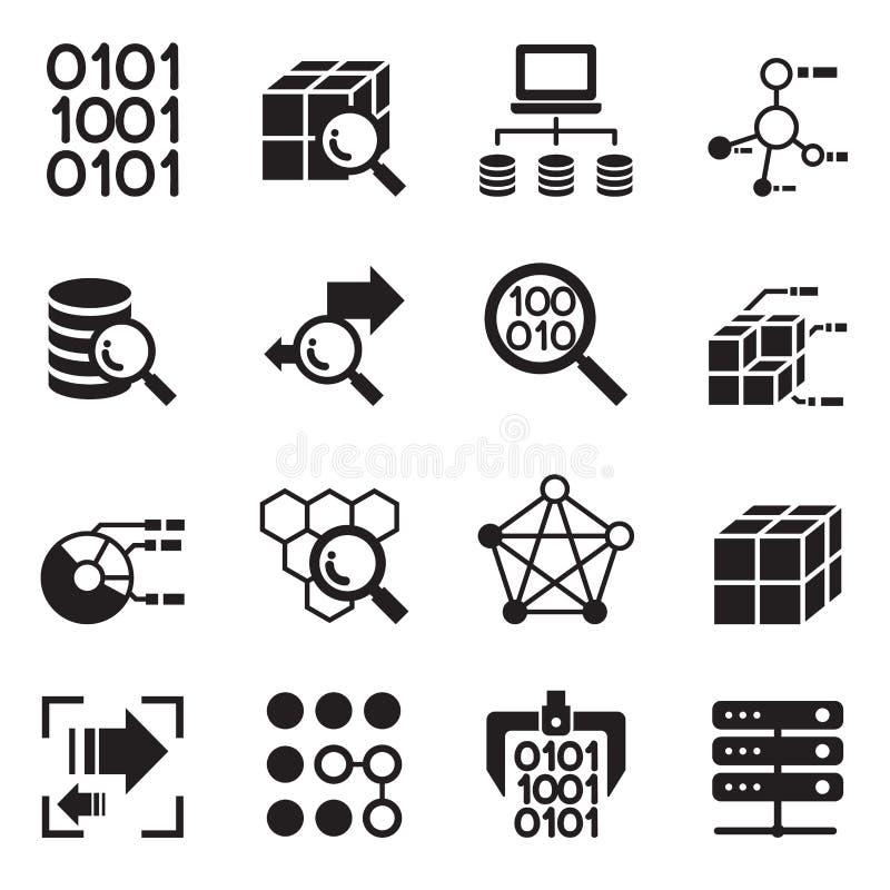 Tecnologia de mineração dos dados, transferência de dados, análise do armazém de dados ilustração stock