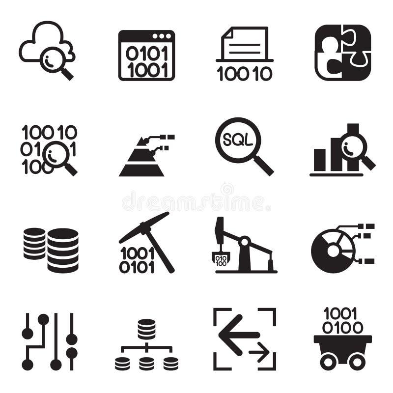 Tecnologia de mineração dos dados, transferência de dados, armazém de dados, diagra ilustração stock