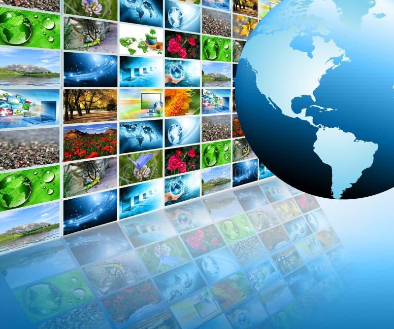 Tecnologia de produção da televisão e do Internet ilustração do vetor