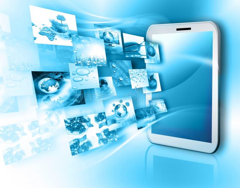 Tecnologia de produção da televisão e do Internet fotografia de stock