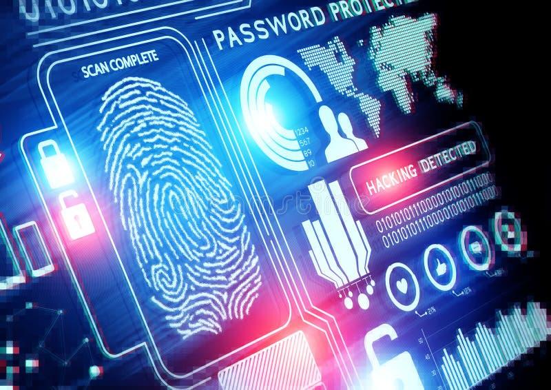 Tecnologia de segurança em linha imagens de stock