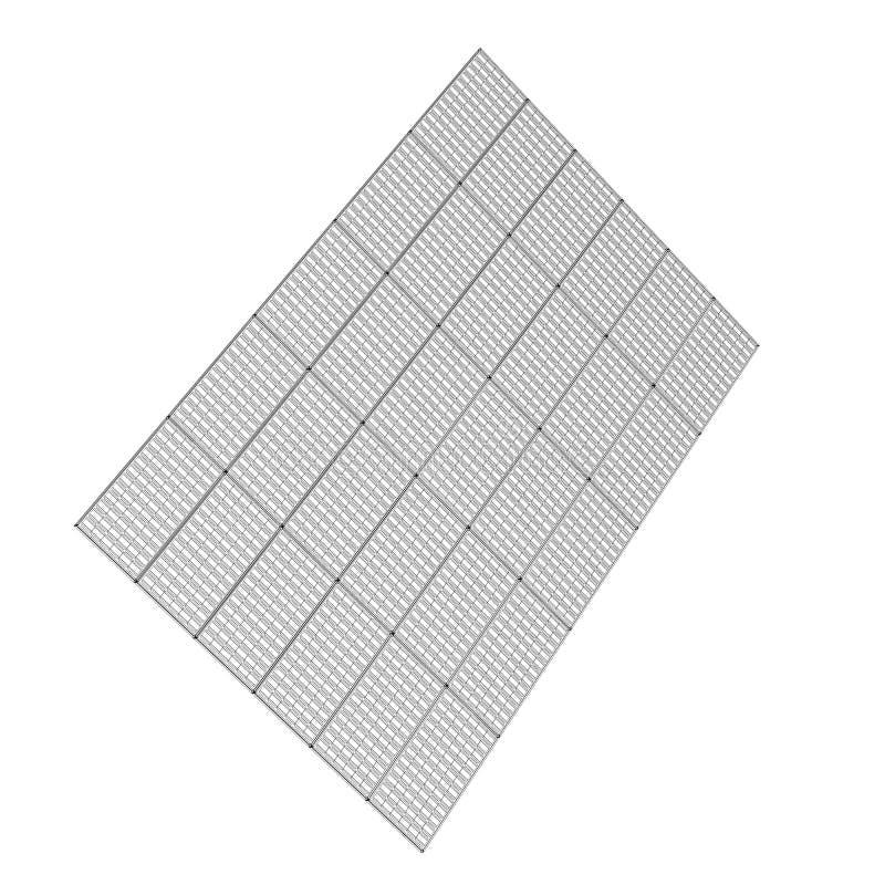 Tecnologia dei pannelli solari fotografia stock