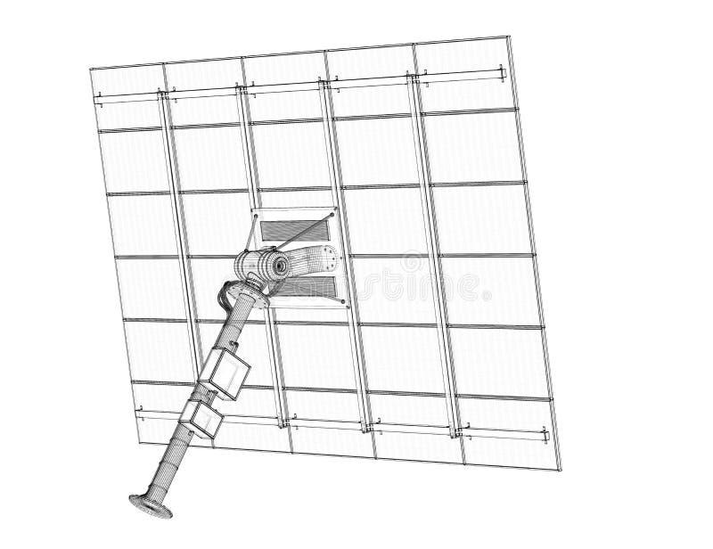 Tecnologia dei pannelli solari immagine stock libera da diritti
