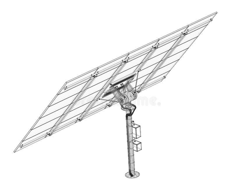 Tecnologia dei pannelli solari immagini stock libere da diritti