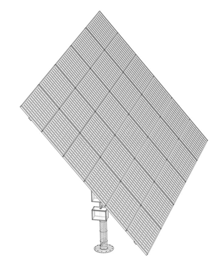 Tecnologia dei pannelli solari fotografie stock libere da diritti
