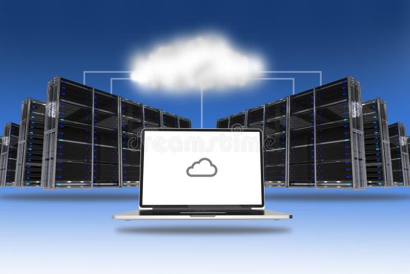 Tecnologia dei server della nuvola royalty illustrazione gratis
