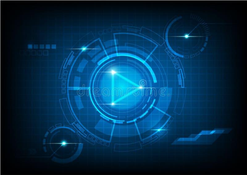Tecnologia del fondo dell'estratto di concetto di vettore fotografie stock libere da diritti