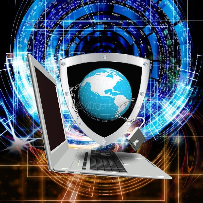 Tecnologia del Internet globalization royalty illustrazione gratis