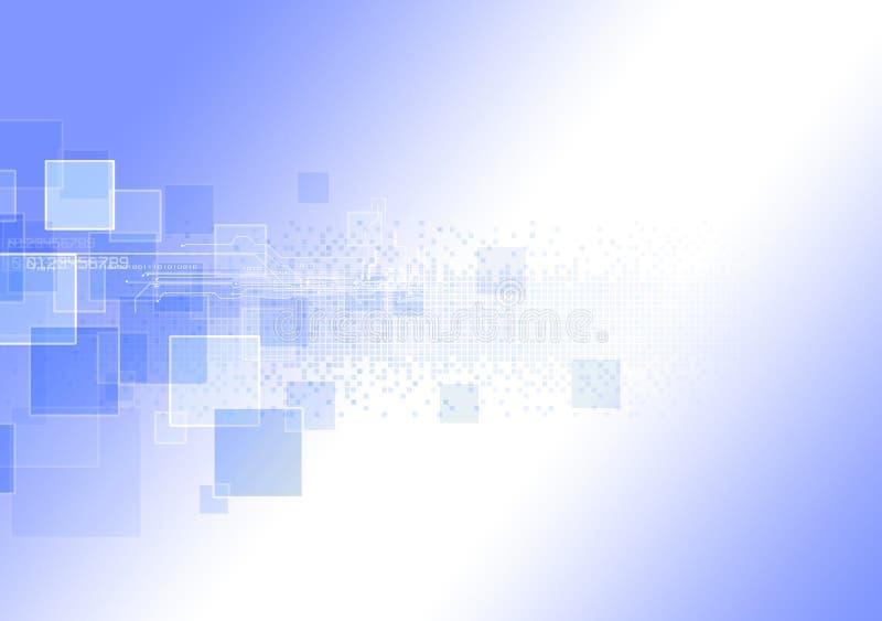 Tecnologia dell'estratto futuristica Circuito di alta tecnologia Alte tecnologie informatiche dell'illustrazione con il fondo blu illustrazione di stock