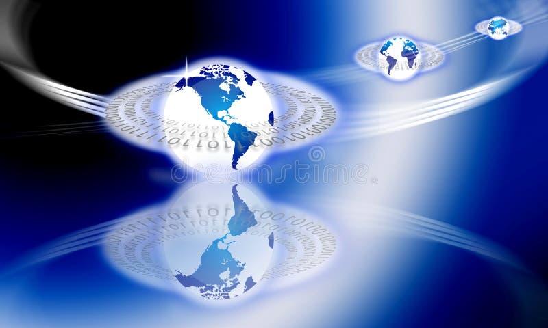 Tecnologia dell'informazione globale illustrazione di stock